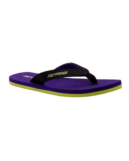 Shop St Basic   Purple/Lime Flip Flops For Women-Back