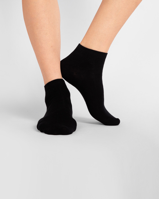 Shop Men's Solid Black Ankle Length Socks-Design