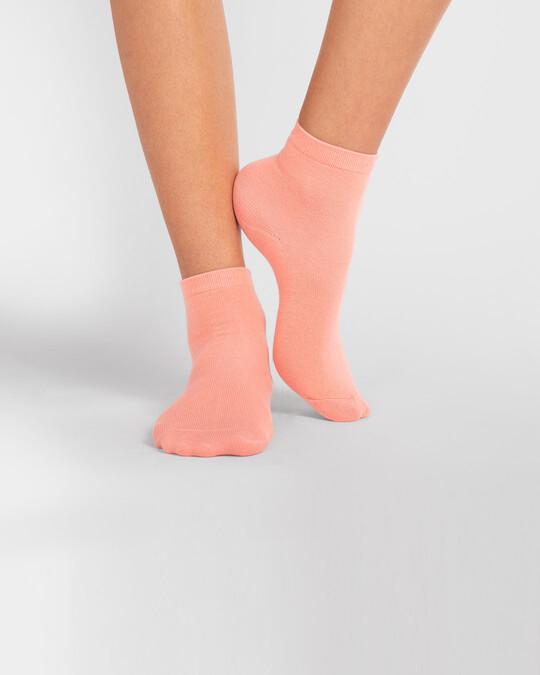 Shop Women's Solid Coral Ankle Length Socks-Design