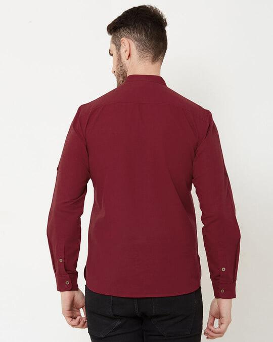 Shop Men Red Solid Short Kurta