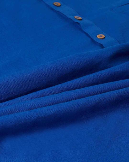 Shop Men Blue Solid Short Kurta
