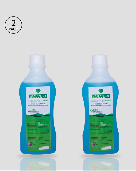 Shop Solve-X Instant Hand Sanitizer - Pack of 2 (500 ml)-Front