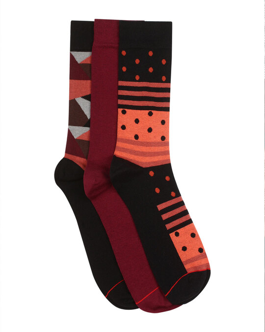 Shop Soxytoes Code Red Crew Socks (Pack of 3)-Back