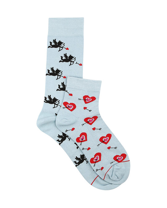 Shop Soxytoes Cupid's Grace His & Hers Crew & Ankle Socks (Pack of 2)-Back