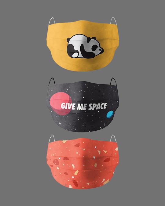 Shop Eat Sleep Repeat Pack Of 3 Super Safe Masks-Front