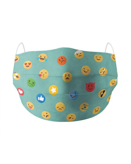 Shop Emojis Cotton Face Mask-Front