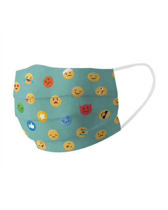 Shop Emojis Cotton Face Mask-Full