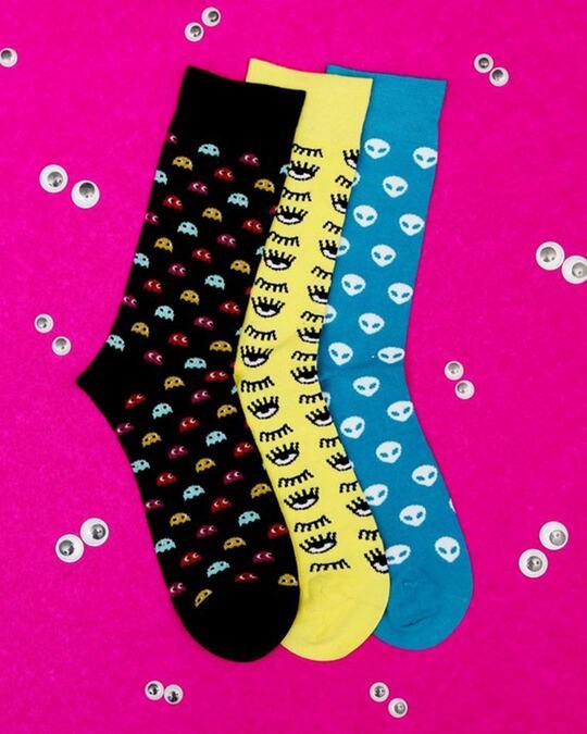 Shop Soxytoes Funky Monkeys Crew Socks (Pack of 3)