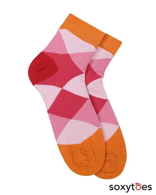 Shop Soxytoes Geometricals Argyle Ankle Socks (Pack of 2)-Back