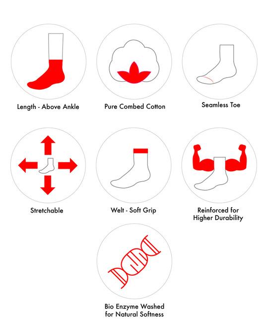 Shop Soxytoes Geometricals Argyle Ankle Socks (Pack of 2)-Design