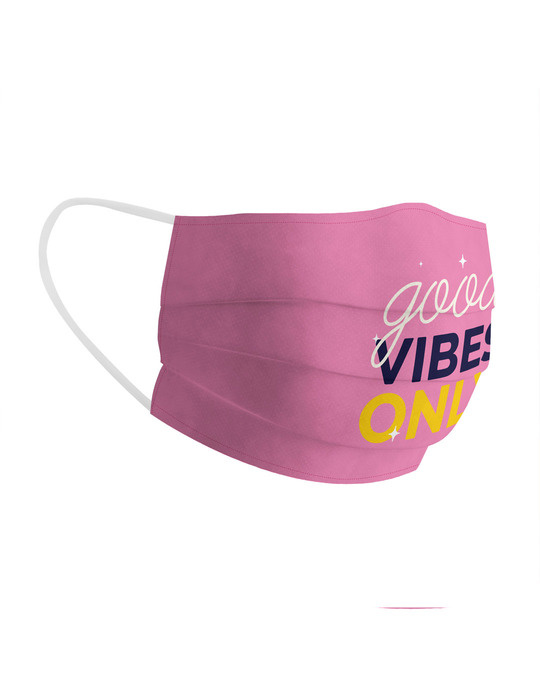 Shop Soxytoes Good Vibes Only Cotton Face Mask-Back