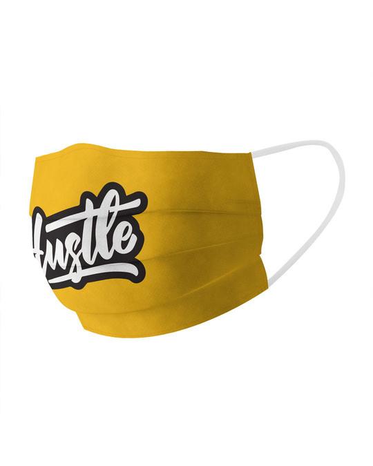 Shop Hustle Cotton Face Mask-Full
