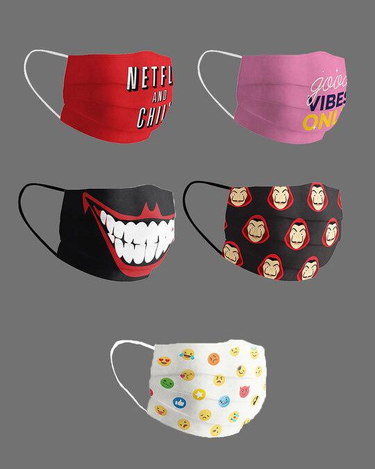 Shop Jumbo Pack Of 5 Super Safe Masks-Back