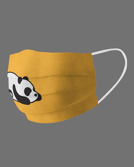 Shop Lazy Panda Cotton Face Mask-Back