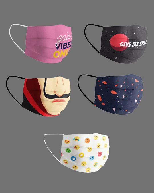 Shop Monday To Friday Pack Of 5 Super Safe Masks-Design