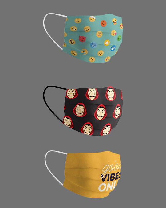 Shop Mood 2020 Pack Of 3 Super Safe Masks-Design