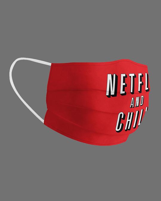 Shop Netflix & Chill Cotton Face Mask-Design