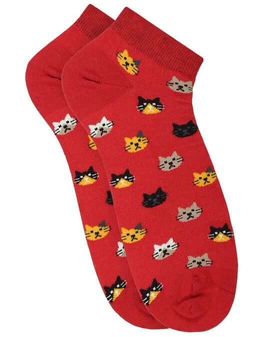 Shop Soxytoes Purrfect Kitten Low Cut Socks-Back
