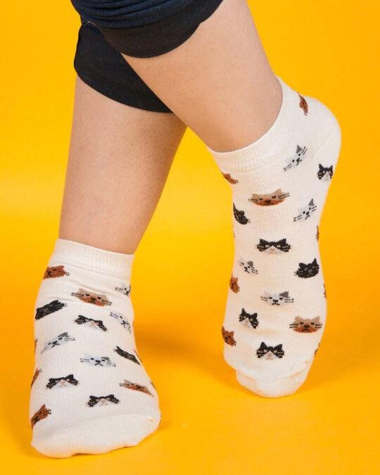 Shop Soxytoes Purrfect Kitten Low Cut Socks-Design