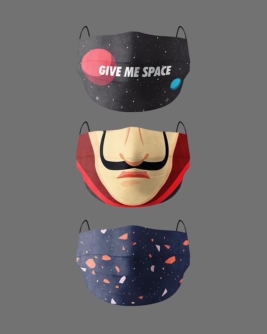 Shop Serial Chiller Pack Of 3 Super Safe Masks-Front