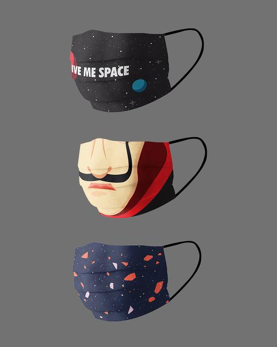 Shop Serial Chiller Pack Of 3 Super Safe Masks-Back