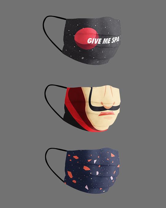Shop Serial Chiller Pack Of 3 Super Safe Masks-Design