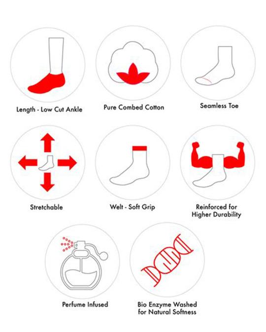 Shop Soxytoes Sockaholic Ankle Socks (Pack of 3)-Back