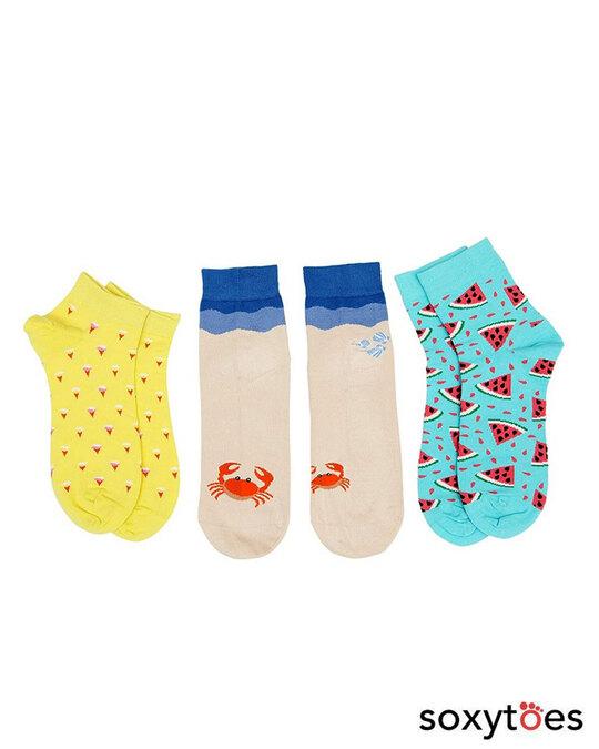Shop Soxytoes Sunshine Summer Ankle Socks (Pack of 3)-Front