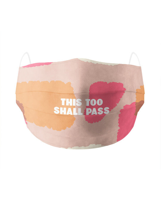 Shop This Too Shall Pass Cotton Face Mask-Front