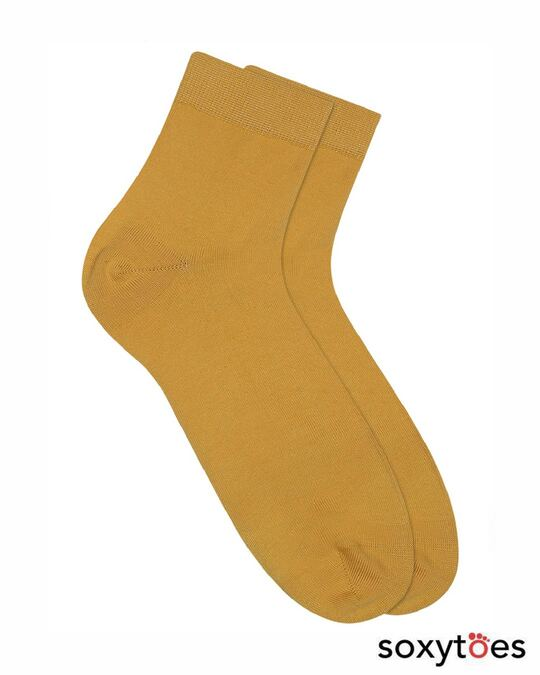 Shop Soxytoes Yellow Sockaholic Ankle Socks (Pack of 2)-Front