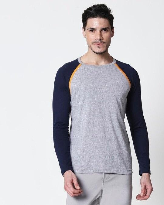 Shop Space Grey Men's Full Sleeve Raglan T-Shirt-Back
