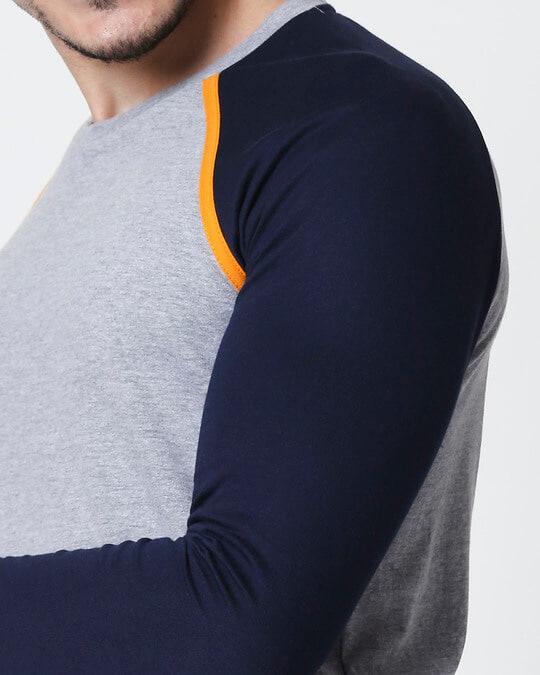 Shop Space Grey Men's Full Sleeve Raglan T-Shirt