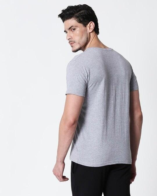 Shop Space Grey Men's Half Sleeve T-Shirt-Full