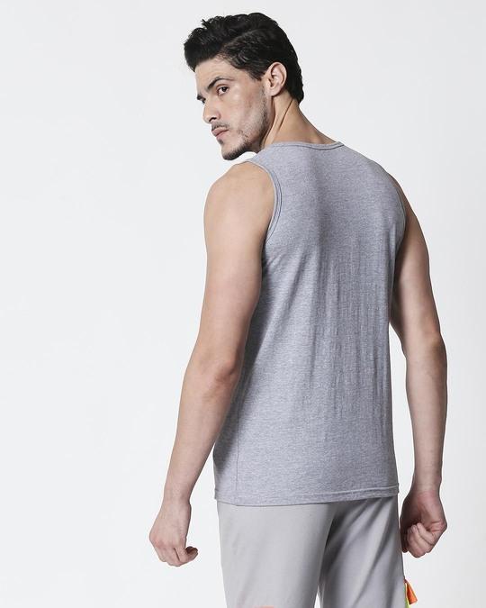 Shop Space Grey Men's Round Neck Pocket Vest-Full