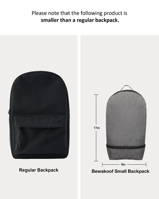 Shop Space Grey Small Backpack-Full
