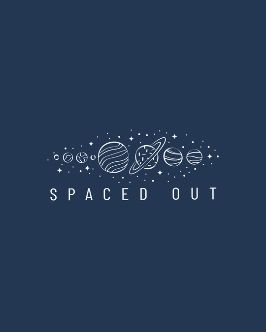 Shop Space It Out Half Sleeve T-Shirt Navy Blue