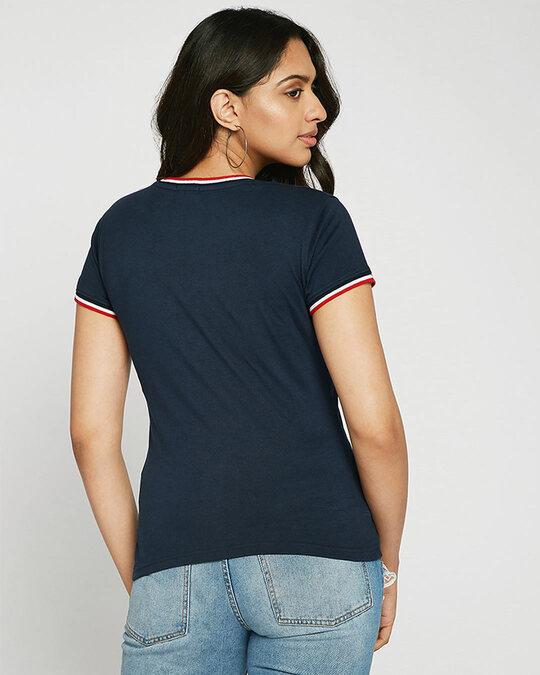 Shop Space Pocket Crewneck Varsity Rib H/S T-Shirt Multicolor-Design
