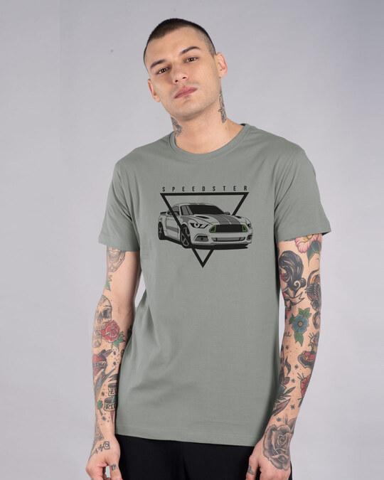Shop Speedster Wheels Half Sleeve T-Shirt-Front