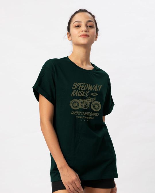 Shop Speedway On Wheels Boyfriend T-Shirt-Back