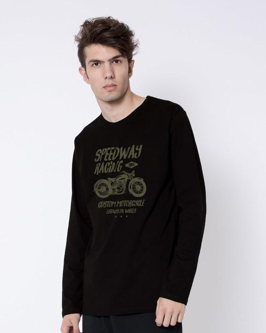 Shop Speedway On Wheels Full Sleeve T-Shirt-Back