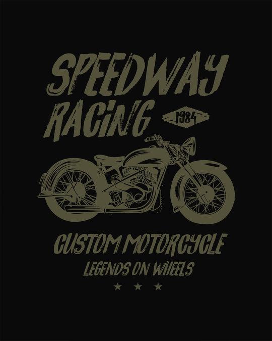 Shop Speedway On Wheels Full Sleeve T-Shirt