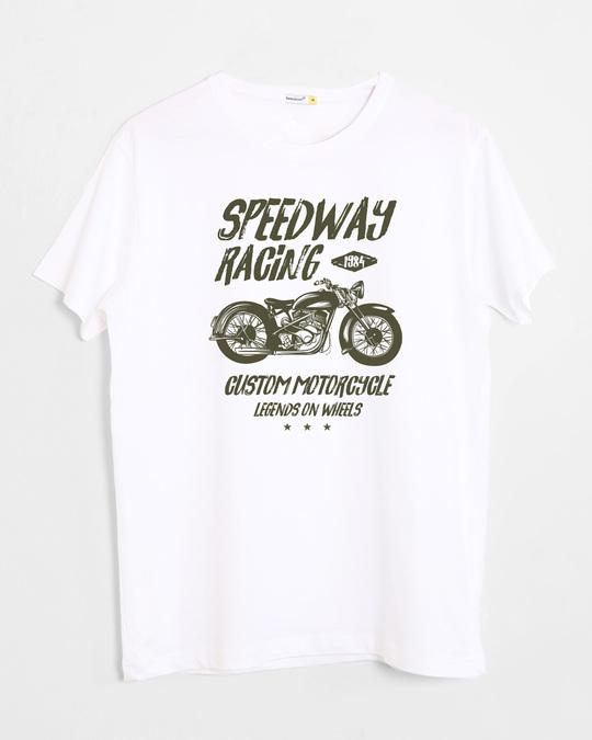Shop Speedway On Wheels Half Sleeve T-Shirt-Front