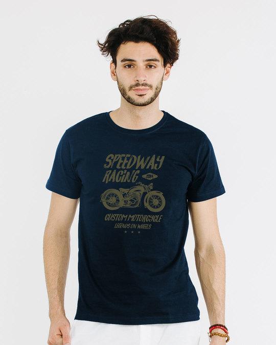 Shop Speedway On Wheels Half Sleeve T-Shirt-Back