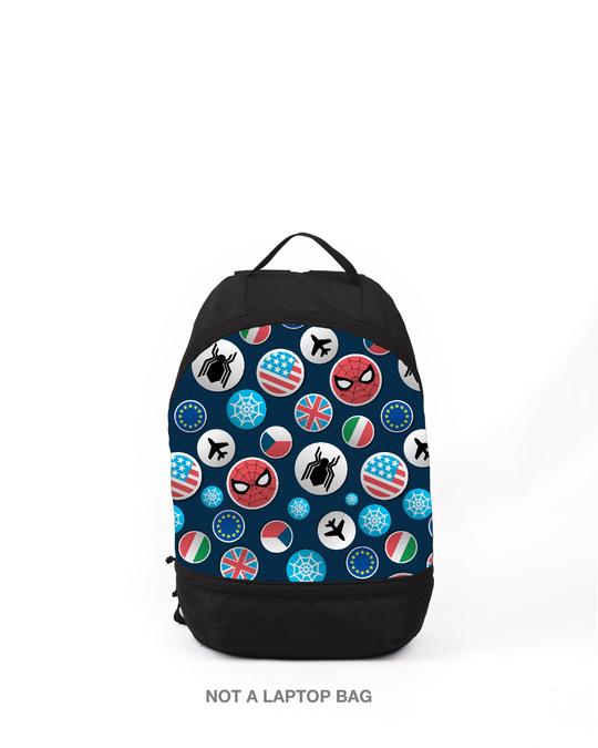 Shop Spi Badge Printed Mini Small Backpacks-Front