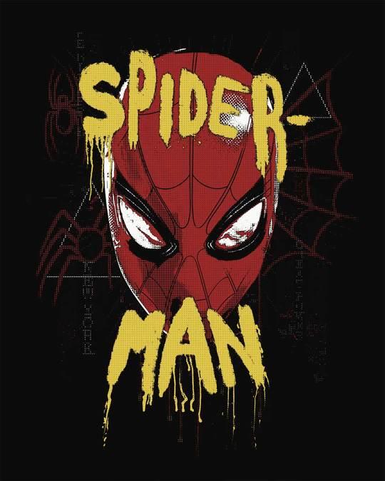 Shop Spider Spray Paint Boyfriend T-Shirt (FFHL)
