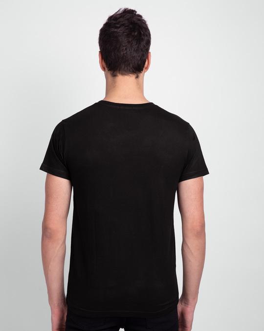 Shop Spiderman Face Half Sleeve T-Shirt (AVL) Black-Back