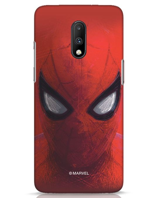 Shop Spiderman Red OnePlus 7 Mobile Cover (AVL)-Front