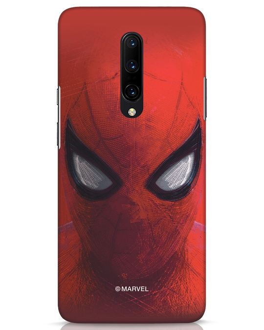 Shop Spiderman Red OnePlus 7 Pro Mobile Cover (AVL)-Front