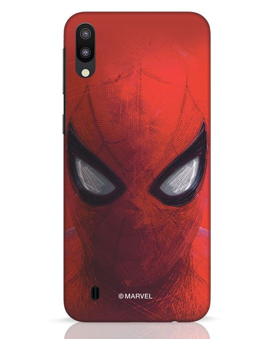 Shop Spiderman Red Samsung Galaxy M10 Mobile Cover (AVL)-Front