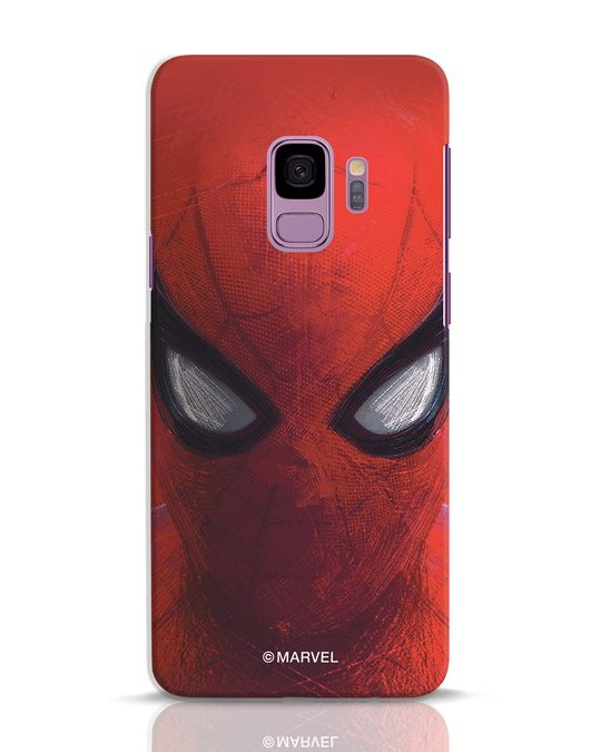 Shop Spiderman Red Samsung Galaxy S9 Mobile Cover (AVL)-Front